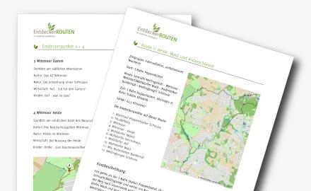 Karten- und Routenmaterial