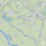 Karte Vier- und Marschlande: Route 1