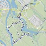 Karte Vier- und Marschlande Route 2
