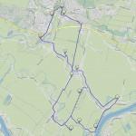 Karte Vier- und Marschlande, Kirchentour