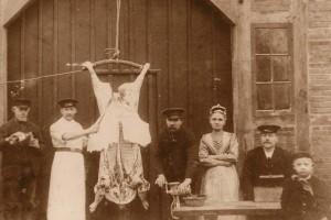 Hausschlachtung um 1910