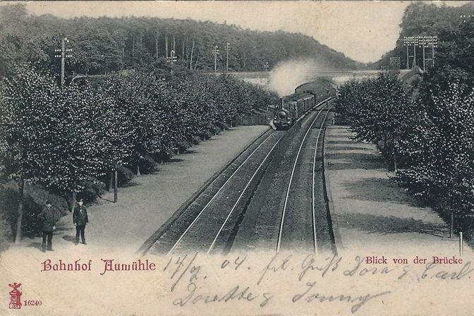 """Postkarte """"Bahnhof Aumühle"""""""