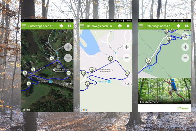 Zusätzliche Karte (Satellit, Verkehrswege, Geländeformation)