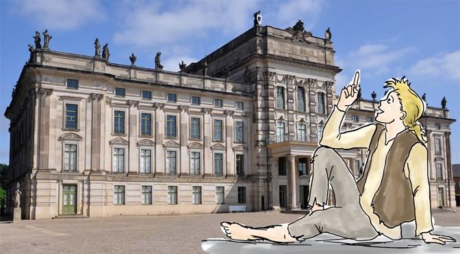 Johann vor dem Schloss