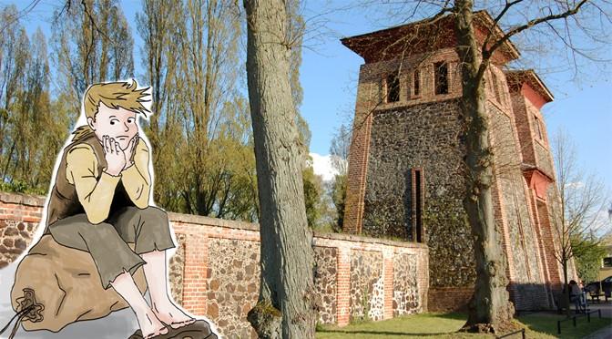 Johann vor dem Friedhofstor