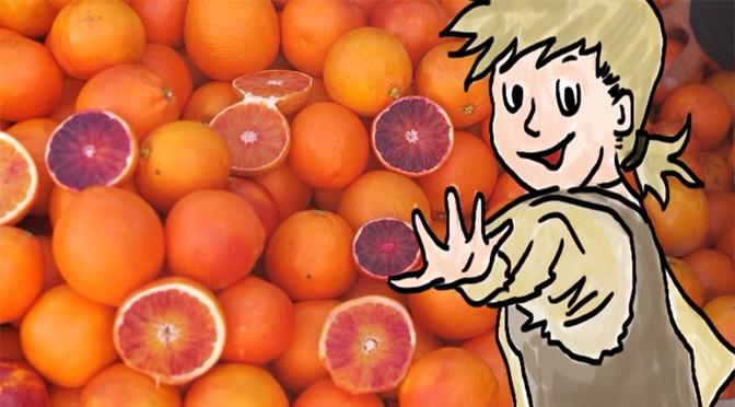 Johann mit Orangen