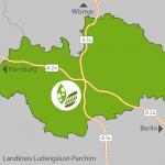 Lage der Region Ludwigslust
