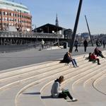Treppe am Elb-Boulevard Hamburg