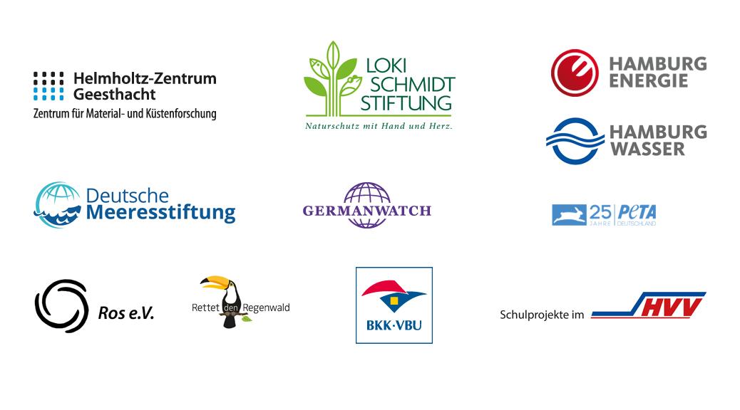 Logos der Partner der Umweltrallye Hamburg