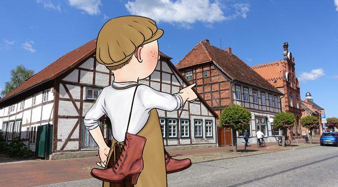 Schusterjunge Konrad zeigt Kindern die Stadt