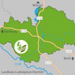 Lage der Griesen Gegend in Mecklenburg-Vorpommern