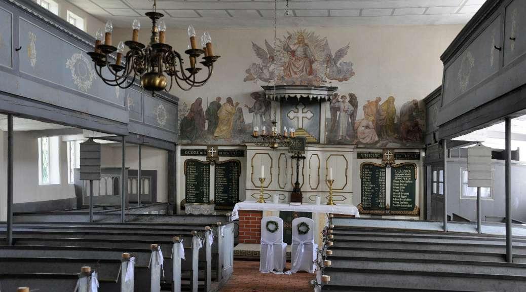 In der Barockkirche von Kirch Jesar