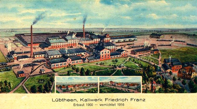 Bildpostkarte Bergbau in Lübtheen